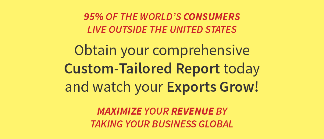 95% of the World's Consumers live outside the United States. Sync-up your Business with our Comprehensive Global Trade App and watch your Exports Grow! Maximize your Revenue by taking your Business Global.