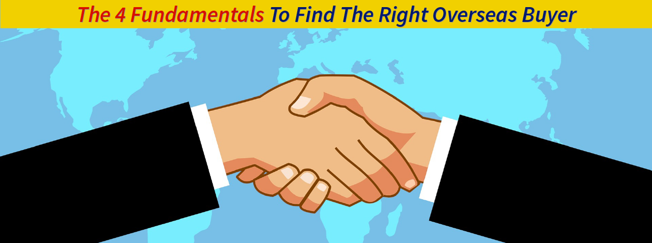 Finding overseas buyers - 4 step process